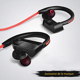 Bluetoothイヤホンワイヤレス ヘッドホン ステレオ H53 ブラック