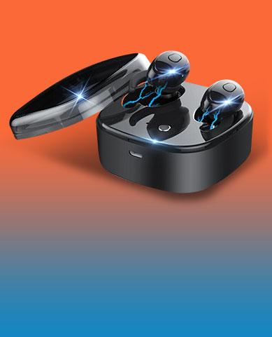 Bluetoothイヤホンワイヤレス ヘッドホン ステレオ H45 ブラック
