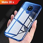 Huawei Mate 20 X用極薄ソフトケース シリコンケース 耐衝撃 全面保護 クリア透明 T07 ファーウェイ ネイビー