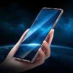 Samsung Galaxy S10 Plus用極薄ソフトケース シリコンケース 耐衝撃 全面保護 クリア透明 H01 サムスン ブラック