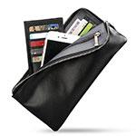 ハンドバッグ ポーチ 財布型ケース レザー ユニバーサル H29 ブラック