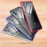 Xiaomi Mi 8 Explorer用ハイブリットバンパーケース クリア透明 プラスチック 鏡面 カバー Xiaomi シルバー