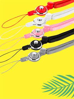 携帯ストラップ ネックストラップ ベアリング ハンドリンカー ハンドストラップ レッド