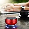 Bluetoothミニスピーカー ポータブルで高音質 ポータブルスピーカー レッド