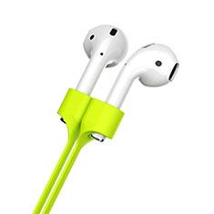 Apple AirPods用紛失防止 シリコン ストラップ 軽量 脱着簡単 アップル グリーン
