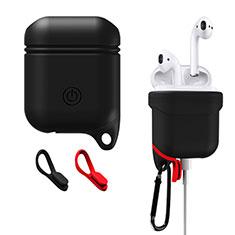 シリコン ケース 保護 収納 ズ用 Airpods 充電ボックス Z02 アップル ブラック
