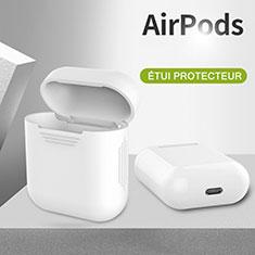 シリコン ケース 保護 収納 ズ用 Airpods 充電ボックス A03 アップル ホワイト