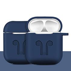 シリコン ケース 保護 収納 ズ用 Airpods 充電ボックス A04 アップル ネイビー