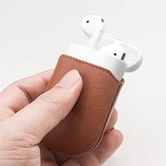 レザー ケース 保護 収納 ズ用 Airpods 充電ボックス A04 アップル ブラック