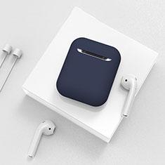 シリコン ケース 保護 収納 ズ用 Airpods 充電ボックス C01 アップル ネイビー