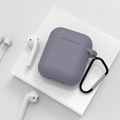 シリコン ケース 保護 収納 ズ用 Airpods 充電ボックス C02 アップル グレー