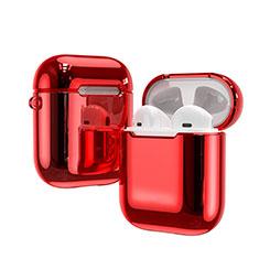 シリコン ケース 保護 収納 ズ用 Airpods 充電ボックス C03 アップル レッド