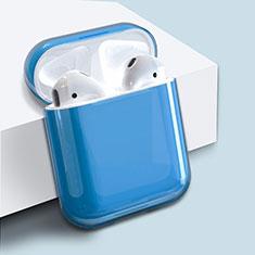 Apple AirPods用ハードケース プラスチック 質感もマット ズ用 Airpods 充電ボックス アップル ネイビー