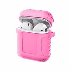シリコン ケース 紛失防止 ズ用 Airpods 充電ボックス C06 アップル ピンク