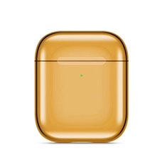 シリコン ケース 紛失防止 ズ用 Airpods 充電ボックス C07 アップル ゴールド