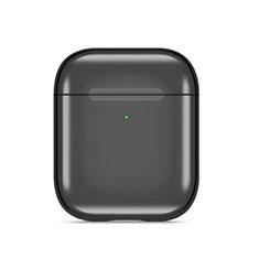 シリコン ケース 紛失防止 ズ用 Airpods 充電ボックス C07 アップル ブラック
