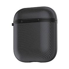 シリコン ケース 紛失防止 ズ用 Airpods 充電ボックス C09 アップル ブラック