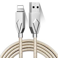 Apple iPad 10.2 (2020)用USBケーブル 充電ケーブル D13 アップル シルバー
