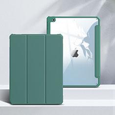 Apple iPad 10.2 (2020)用手帳型 レザーケース スタンド カバー L02 アップル グリーン