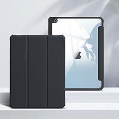 Apple iPad 10.2 (2020)用手帳型 レザーケース スタンド カバー L02 アップル ブラック
