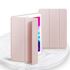 Apple iPad 10.2 (2020)用手帳型 レザーケース スタンド カバー L03 アップル ピンク