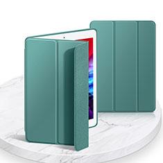 Apple iPad 10.2 (2020)用手帳型 レザーケース スタンド カバー L03 アップル モスグリー