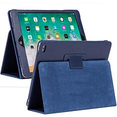 Apple iPad 10.2 (2020)用手帳型 レザーケース スタンド カバー L04 アップル ネイビー