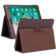 Apple iPad 10.2 (2020)用手帳型 レザーケース スタンド カバー L04 アップル ブラウン