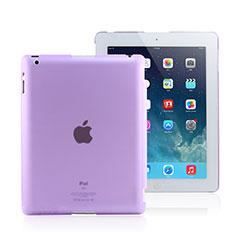 Apple iPad 2用極薄ケース クリア透明 プラスチック アップル パープル