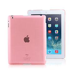Apple iPad 2用極薄ケース クリア透明 プラスチック アップル ピンク