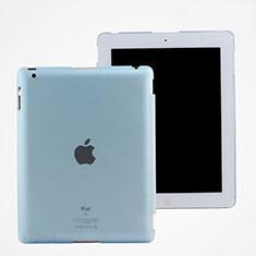 Apple iPad 2用極薄ケース クリア透明 プラスチック アップル ブルー