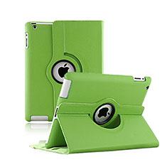 Apple iPad 2用回転式 スタンド レザーケース アップル グリーン