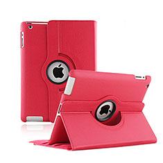 Apple iPad 2用回転式 スタンド レザーケース アップル レッド