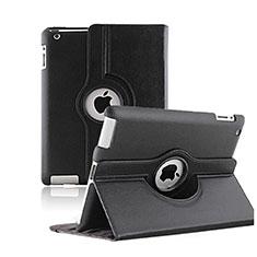 Apple iPad 2用回転式 スタンド レザーケース アップル ブラック