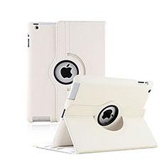 Apple iPad 2用回転式 スタンド レザーケース アップル ホワイト