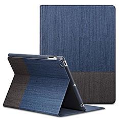 Apple iPad 2用手帳型 レザーケース スタンド L03 アップル ネイビー