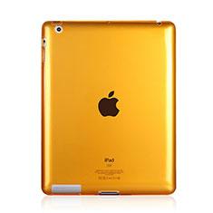 Apple iPad 3用極薄ソフトケース シリコンケース 耐衝撃 全面保護 クリア透明 アップル イエロー