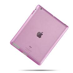 Apple iPad 3用極薄ソフトケース シリコンケース 耐衝撃 全面保護 クリア透明 アップル ピンク