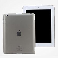 Apple iPad 3用極薄ケース クリア透明 プラスチック アップル グレー