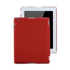 Apple iPad 3用ハードケース プラスチック 質感もマット アップル レッド