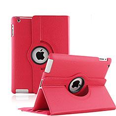 Apple iPad 3用回転式 スタンド レザーケース アップル レッド
