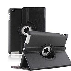 Apple iPad 3用回転式 スタンド レザーケース アップル ブラック