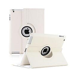 Apple iPad 3用回転式 スタンド レザーケース アップル ホワイト