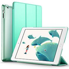 Apple iPad 3用手帳型 レザーケース スタンド L01 アップル グリーン