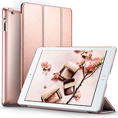 Apple iPad 3用手帳型 レザーケース スタンド L01 アップル ローズゴールド