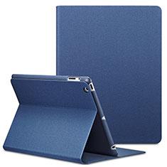 Apple iPad 3用手帳型 レザーケース スタンド L02 アップル ネイビー