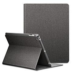 Apple iPad 3用手帳型 レザーケース スタンド L02 アップル ブラック