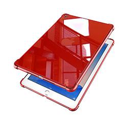 Apple iPad Air 2用極薄ソフトケース シリコンケース 耐衝撃 全面保護 クリア透明 H01 アップル レッド