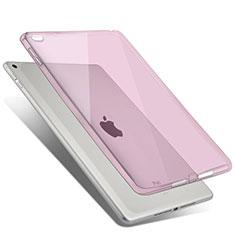 Apple iPad Air 2用極薄ソフトケース シリコンケース 耐衝撃 全面保護 クリア透明 アップル ピンク
