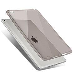 Apple iPad Air 2用極薄ソフトケース シリコンケース 耐衝撃 全面保護 クリア透明 アップル グレー